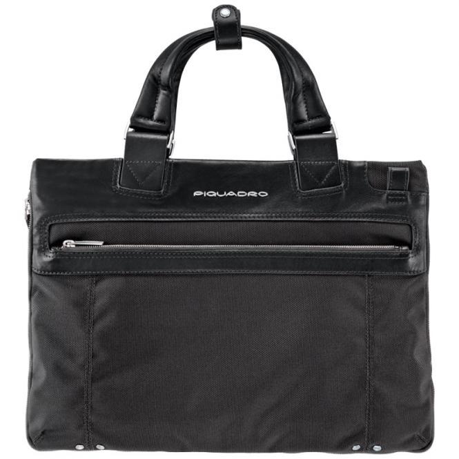 Erweiterbare Laptoptasche schmal black