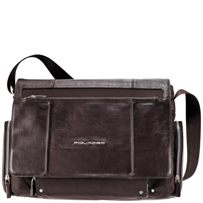 Laptoptasche im Messengerstil dark brown