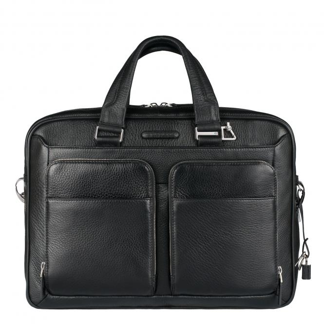 Kurzgrifflaptoptasche mit zwei RV-Vortaschen