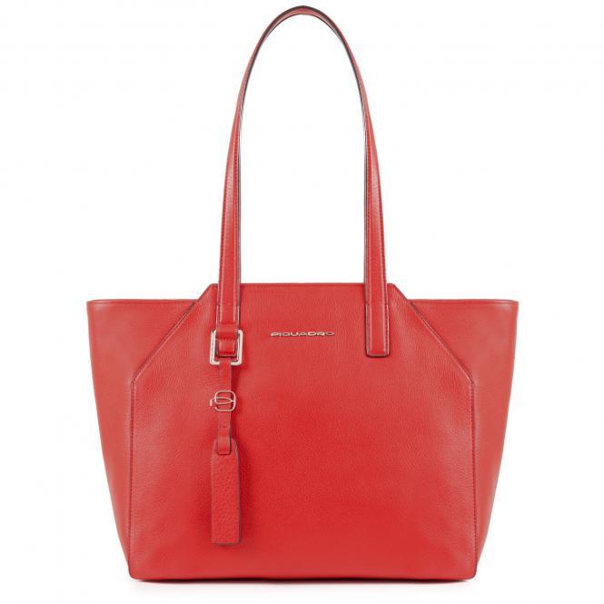"""Damentasche mit iPad Air/Pro 9.7""""-Fach und Laptop-Hülle rot"""