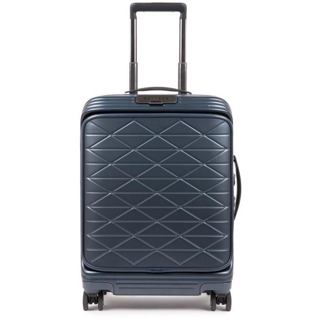 START Kabinenlaptoptrolley mit Vortasche, 4-Rollen und erweiterbar Nachtblau