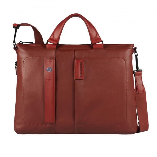 Erweiterbare Laptoptasche mit Tablet-Tasche brick red