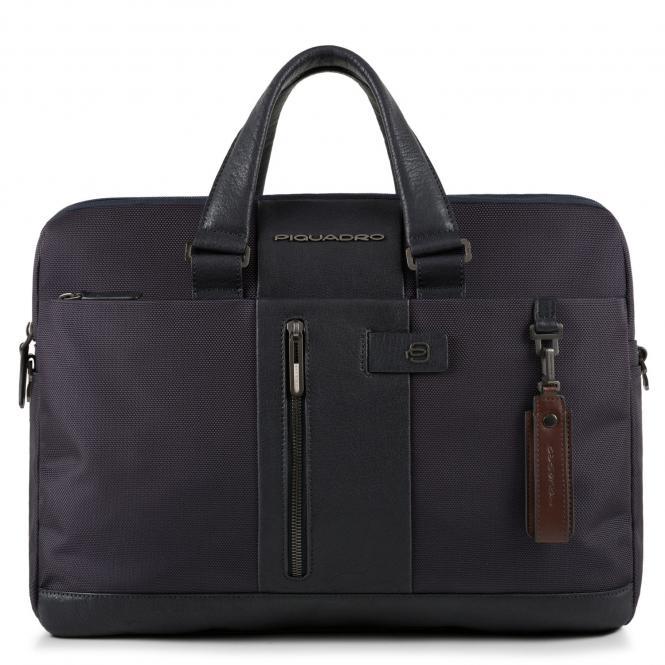 """Aktentasche mit Laptopfach 15.6"""" und RFID-Schutz und CONNEQU blau"""