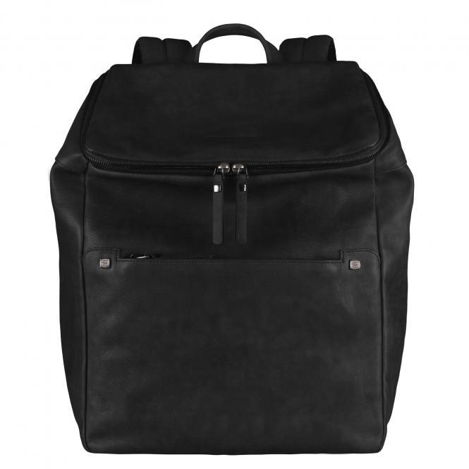 Erweiterbarer Laptoprucksack mit Fach für Tablet black