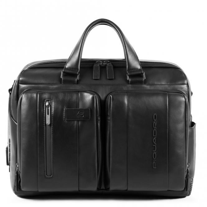 Kurzgrifflaptoptasche mit iPad-Fach und zwei Fächern