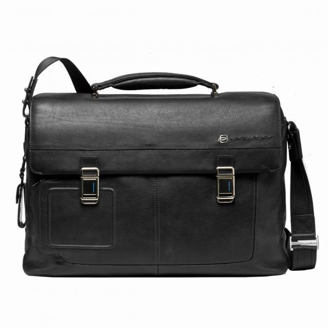 """Laptoptasche 15"""" mit Tabletfach mit zwei Verschlüssen black"""