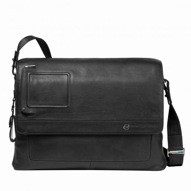 Messenger mit doppeltem Notebook-Fach black