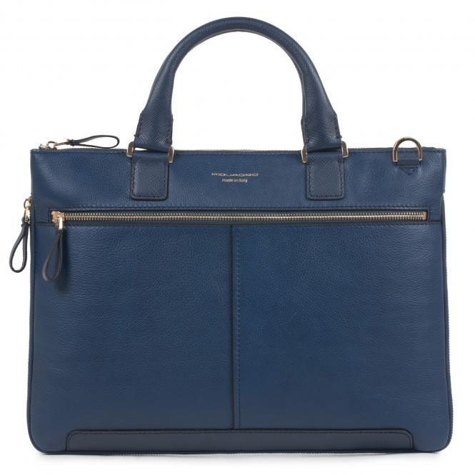 Erweiterbare Laptoptasche mit gepolstertem iPad® -Fach blau