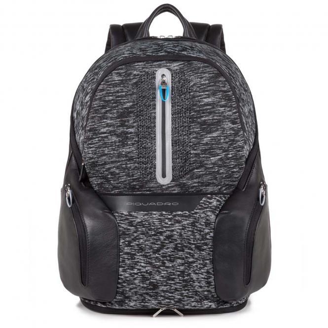 Laptoprucksack mit Tablet-Fach und USB-Anschluss Schwarz