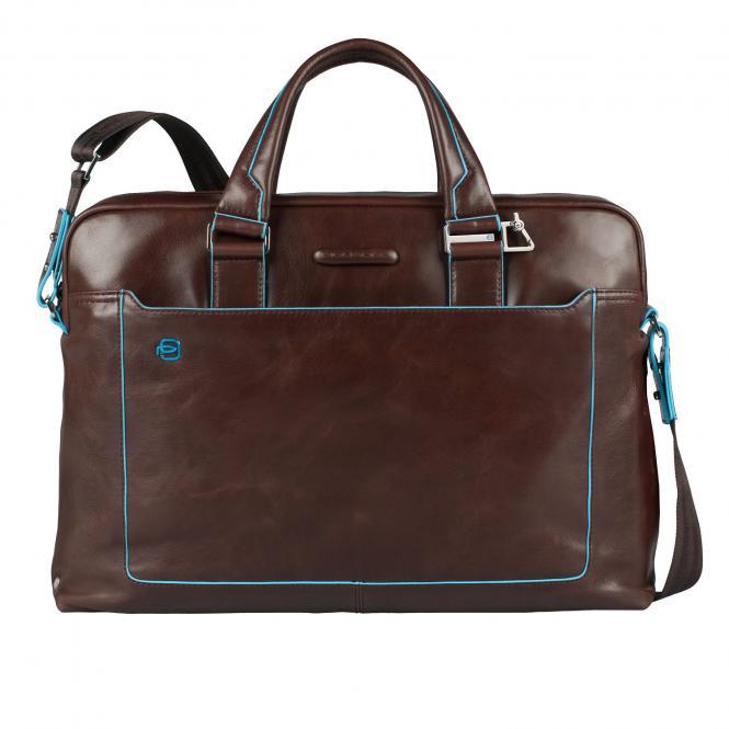 Kurzgriff-Laptoptasche mit iPad®Air/Air2-Fach, Schirm- und Flaschentasche Mahagoni