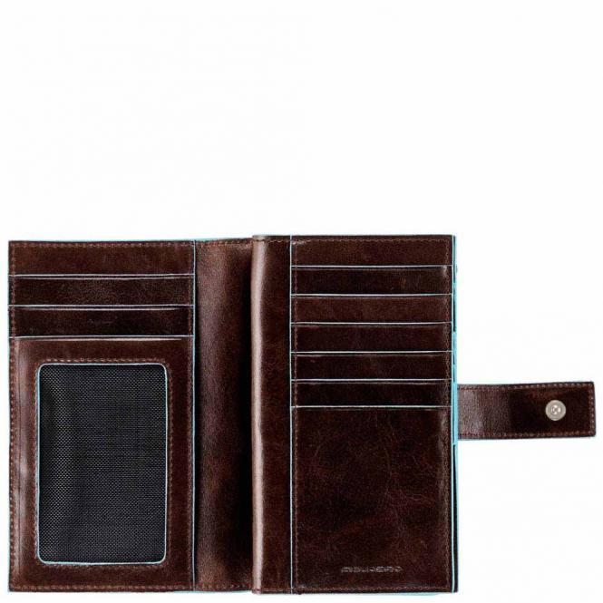 Damenbörse mit Hartgeldfach und Kreditkartensteckfächern mahogany