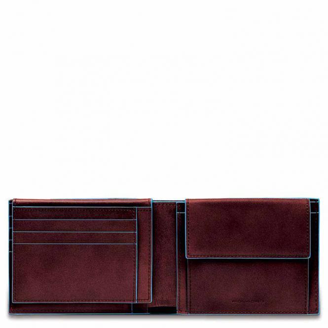 Herrenbrieftasche mit Klapp-Ausweisfenster + RFID Mahagoni