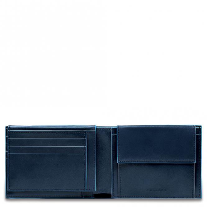 Herrenbrieftasche mit Portemonnaie, Kreditkartensteckfächern und Dokumentenfach Nachtblau