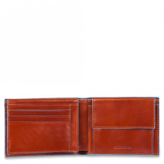 Herrenbrieftasche mit Portemonnaie, Kreditkartensteckfächern und Dokumentenfach Orange