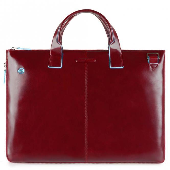 """Schmale, erweiterbare Laptoptasche 15.6"""" mit Tabletfach Rot"""