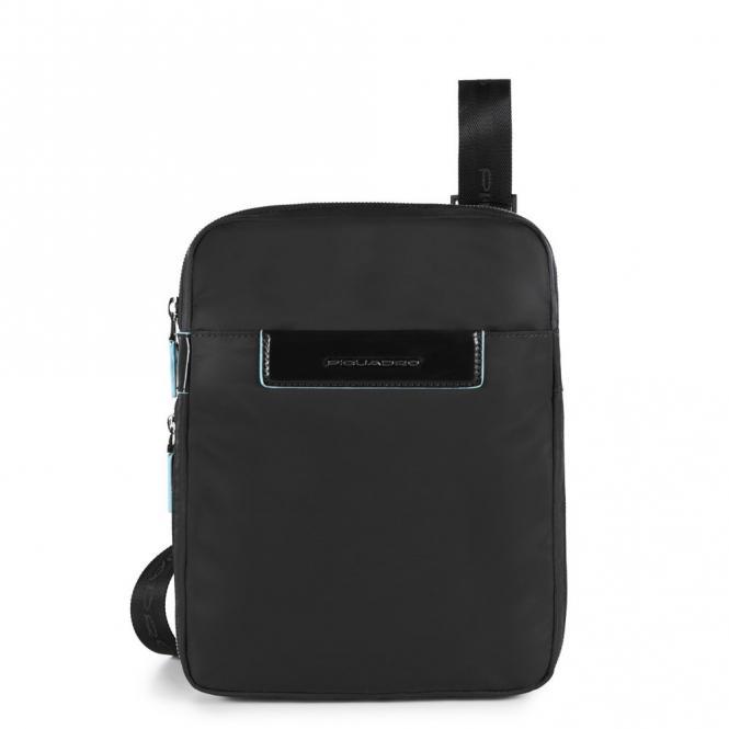 Erweiterbare Umhängetasche mit iPad®mini -Fach schwarz