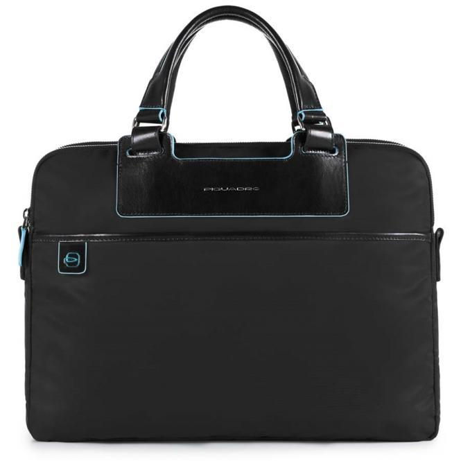 Kurzgriffaktentasche mit RV-Vortasche und herausnehmbarer PC-, iPad®-Hülle mit Orga-Fäc schwarz