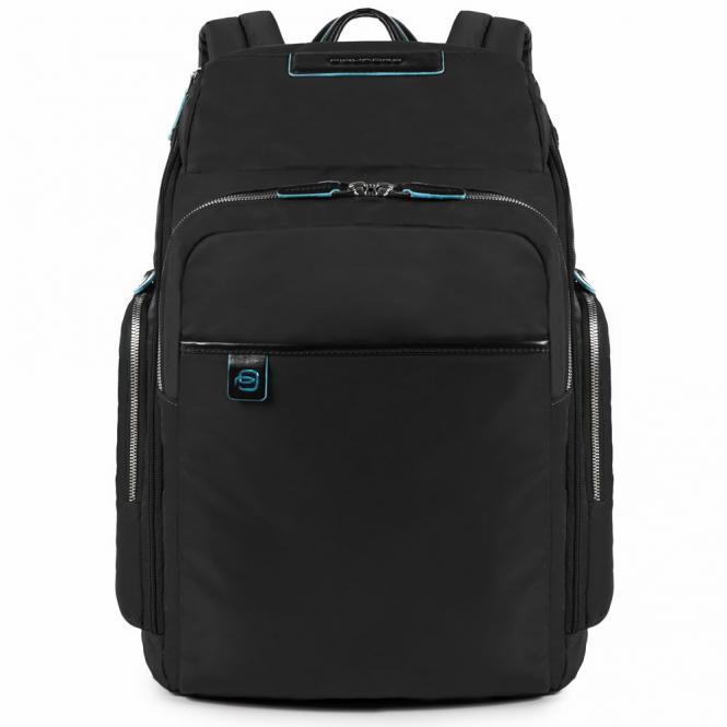 Laptop-Rucksack mit iPad®/iPad®Air/Air2 -Fach, Flasche- und Regenschirmfach schwarz