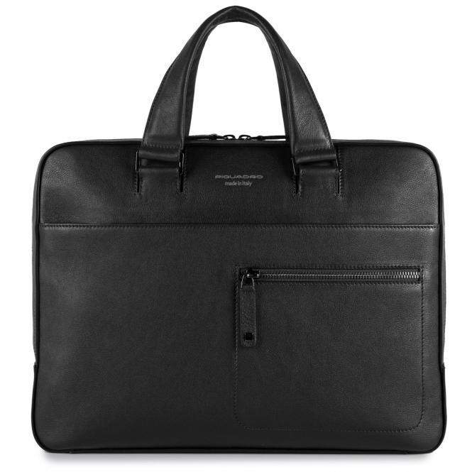 """Schmale Laptoptasche mit auswechselbaren Griffen 14"""" nero"""