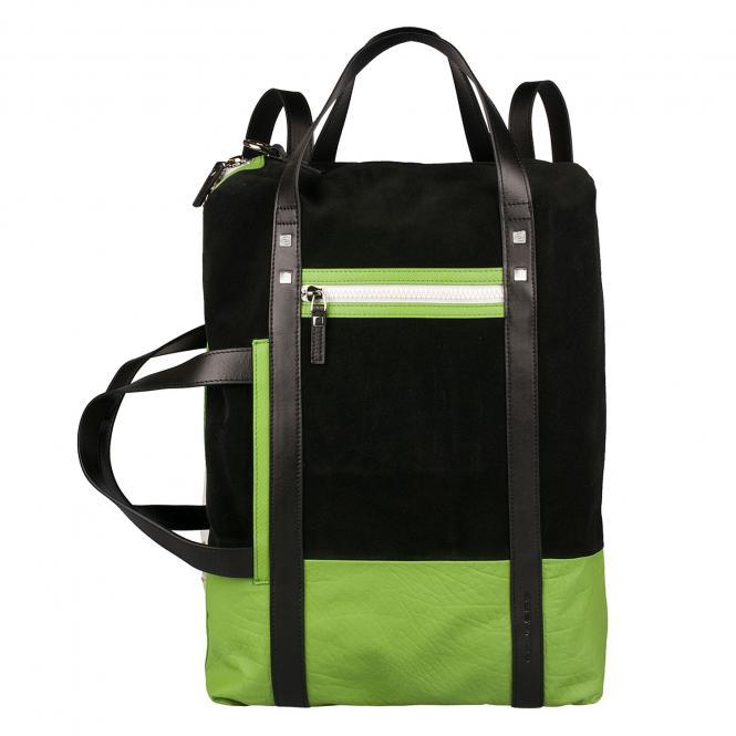 Doppelgriff-Laptoptasche mit Schulterträgern black