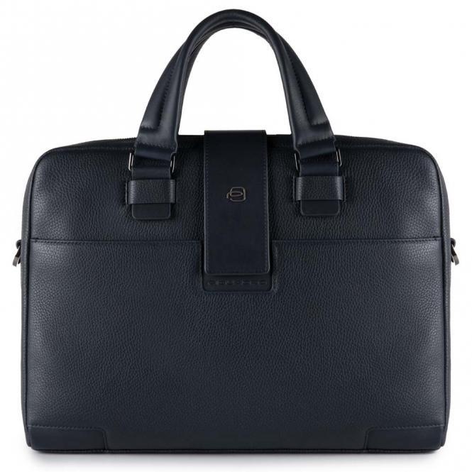 Kurzgriff-Laptoptasche mit iPad®Air/Pro 9,7-Fach Nachtblau