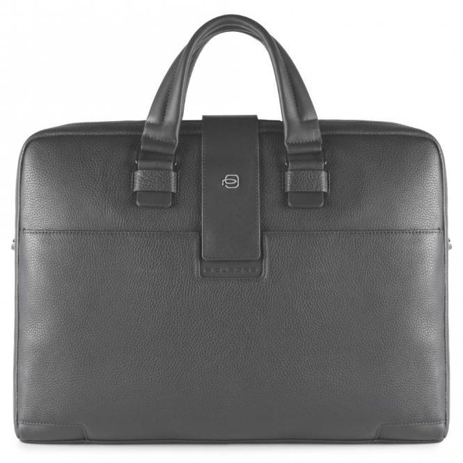Kurzgriff-Laptoptasche mit zwei Fächern und iPad®Air/Pro 9,7-Fach grau