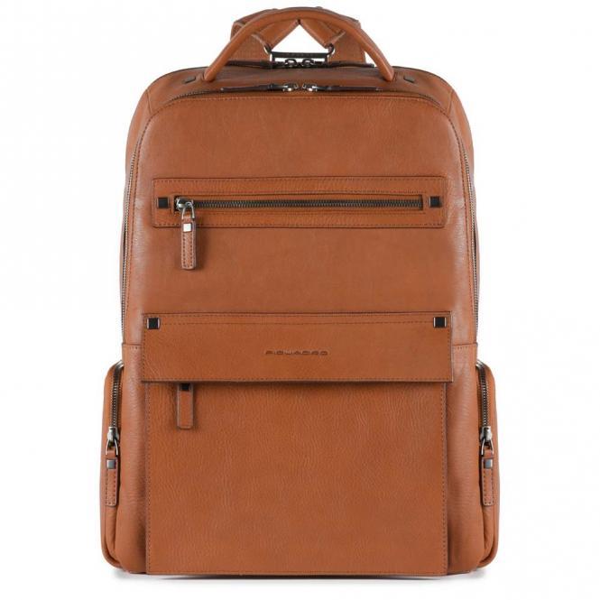 Laptoprucksack mit iPad®Air/Pro 9,7-Fach, Regenschirm- und Flaschentasche cuoio tabacco
