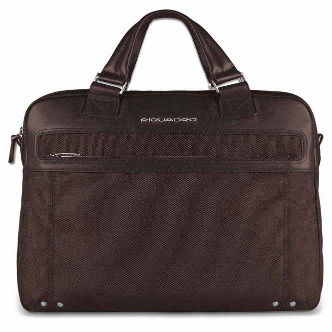 """Doppelgriff-Laptoptasche 15"""" mit iPad®-/iPad®Air-/iPad®mini-Fach Dunkelbraun"""