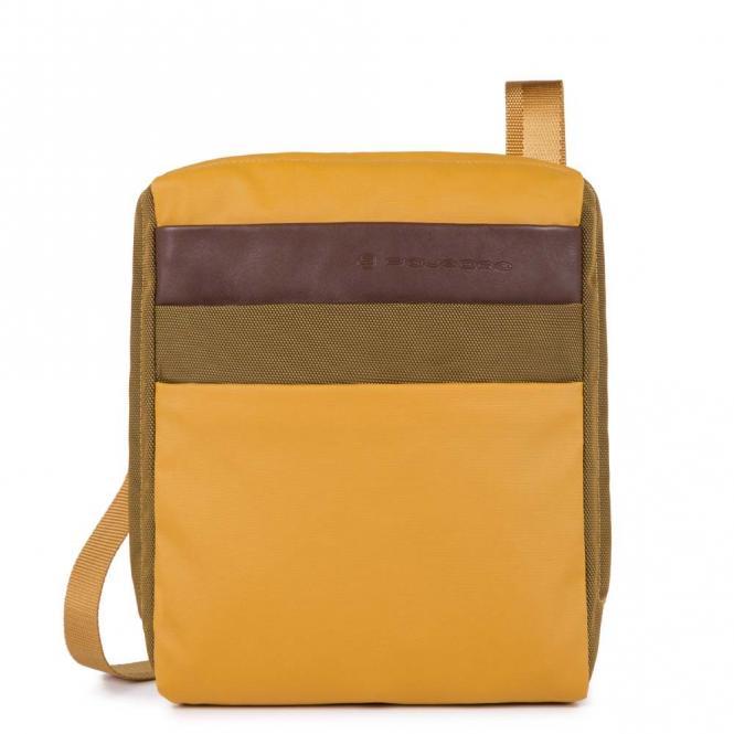 Organisierte Umhängetasche mit iPad®Air/Pro 9,7-Fach mustard