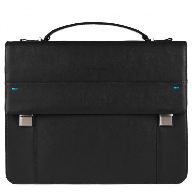 Laptoptasche mit Überschlag und iPad®-Fach black