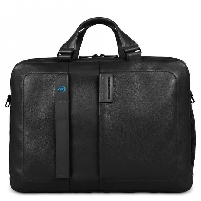 Kurzgriff-Laptoptasche mit 2 Fächern für iPad®Air/Air2 und iPad®mini, Flaschen-/Schirmhalter schwarz