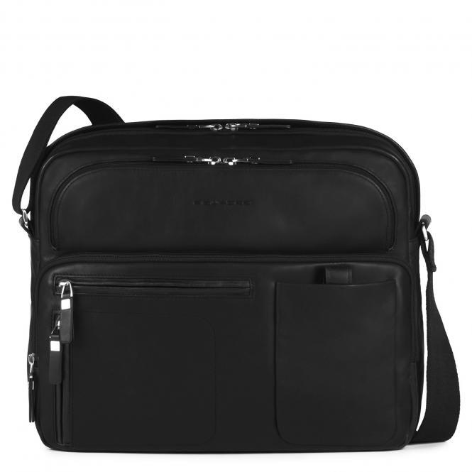Reportertasche mit Notebookfach, Rengenschirmfach und Flaschenhalter black