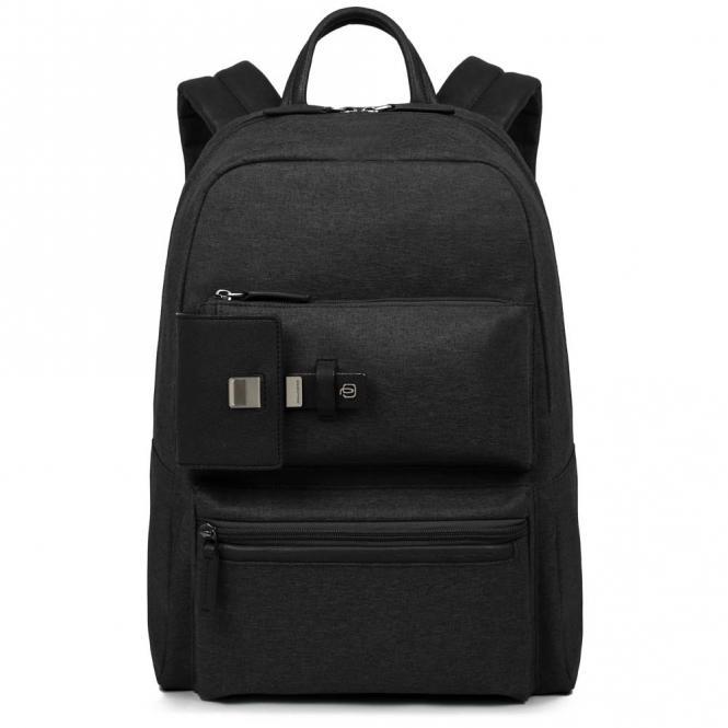 Erweiterbarer Laptoprucksack mit iPad®Air/Pro 9,7-Fach schwarz