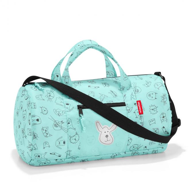 Mini Maxi Dufflebag Reisetasche S cats and dogs mint