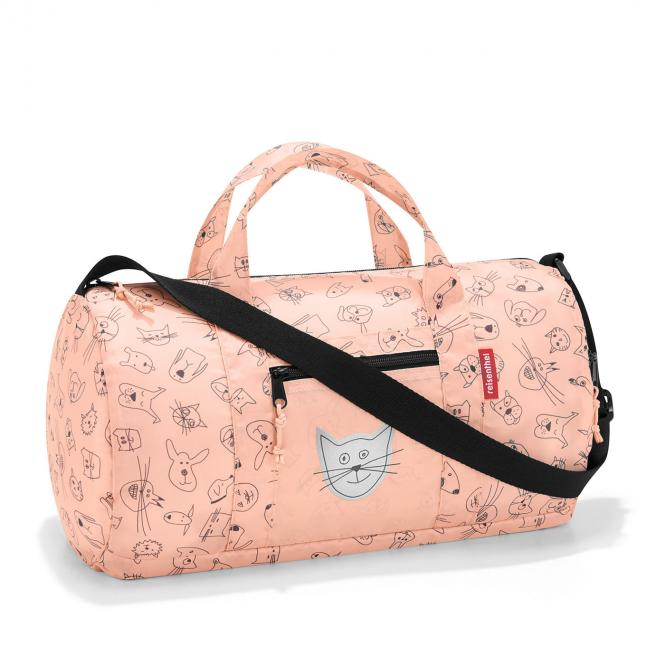 Mini Maxi Dufflebag Reisetasche S cats and dogs rose