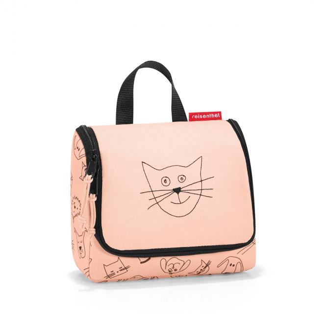 toiletbag Kulturbeutel S cats and dogs rose