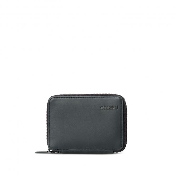 Trifold Zip Wallet Total Black