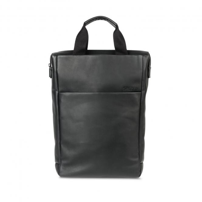 "Tote Leather 15,6"" Total Black"