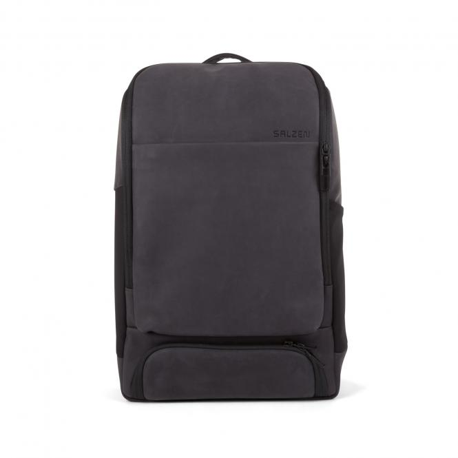 "Alpha Backpack Leather 15,6"" Charcoal Black"