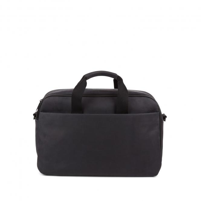 "Workbag Leather 15,6"" Charcoal Black"