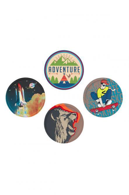 Badges, 4-tlg. Set