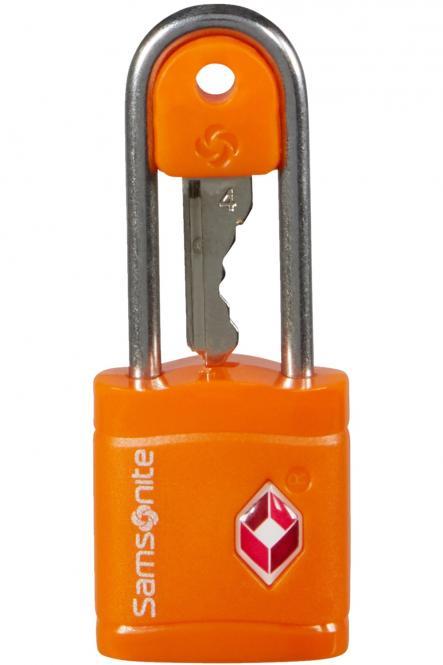 TSA-Hängeschloss mit schlüssel Orange