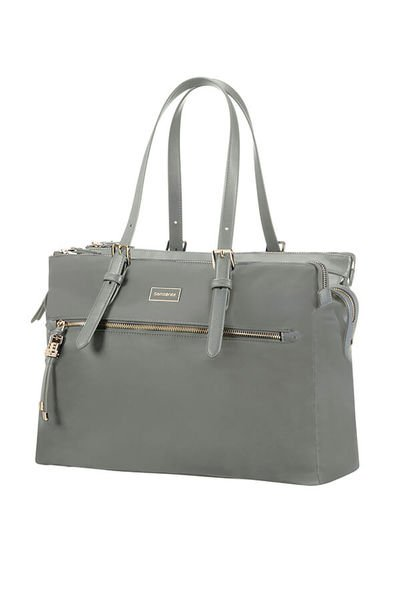 "Organised Shoppingbag mit Laptopfach 14.1"" Gunmetal Green"