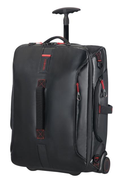 Reisetasche mit Rollen 55cm Rucksack Black