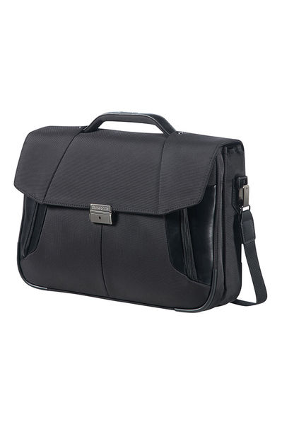 "Briefcase 2 Gussets 15.6"" Black"