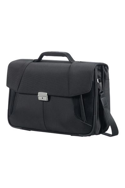 "Briefcase 3 Gussets 15.6"" Black"