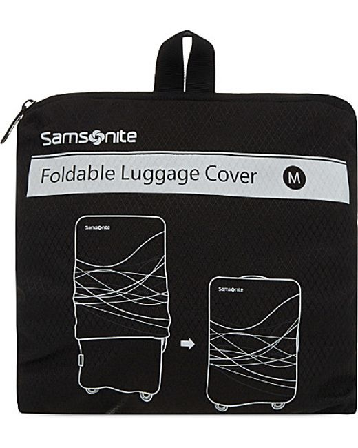 Foldable Luggage Cover S Black