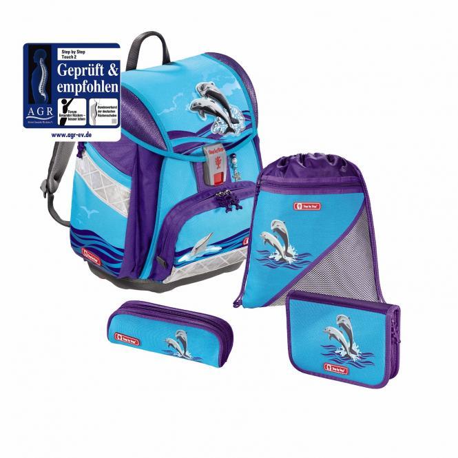 Schulranzen-Set,4-teilig Happy Dolphins