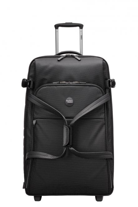 Rollenreisetasche L, erweiterbar black-white