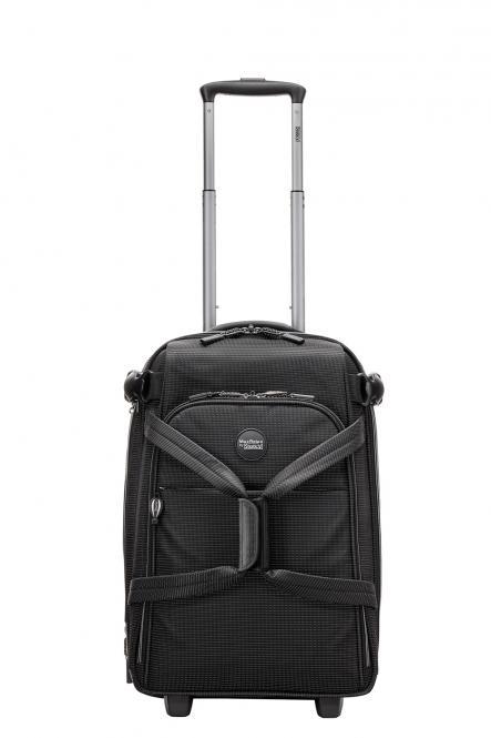 Rollenreisetasche S 2R, erweiterbar black-white